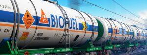 Train carrying Biofuel