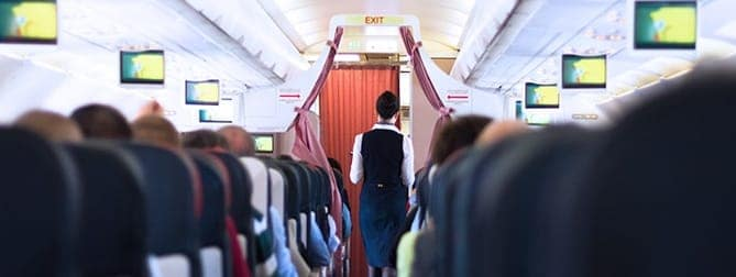 Airplane Cabin Interior