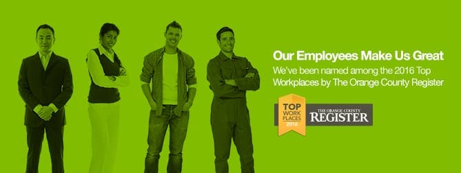 Top Workplace 2016 by the Orange Count Register