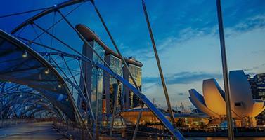 Blue Singapore Glass Pane Building