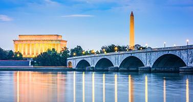 Washington DC Skyline on the Potomac River