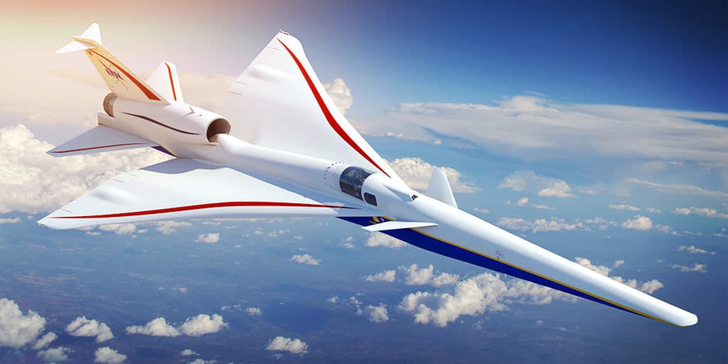 Lockheed Martin X-59 QueSST Low-Boom Demonstrator Quiet Supersonic Transport NASA X-Plane