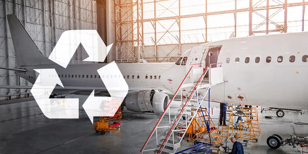 Proponent Aircraft recycling airplane recycling American Recycler magazine green aviation aerospace sustainability sustainable practices future of aerospace