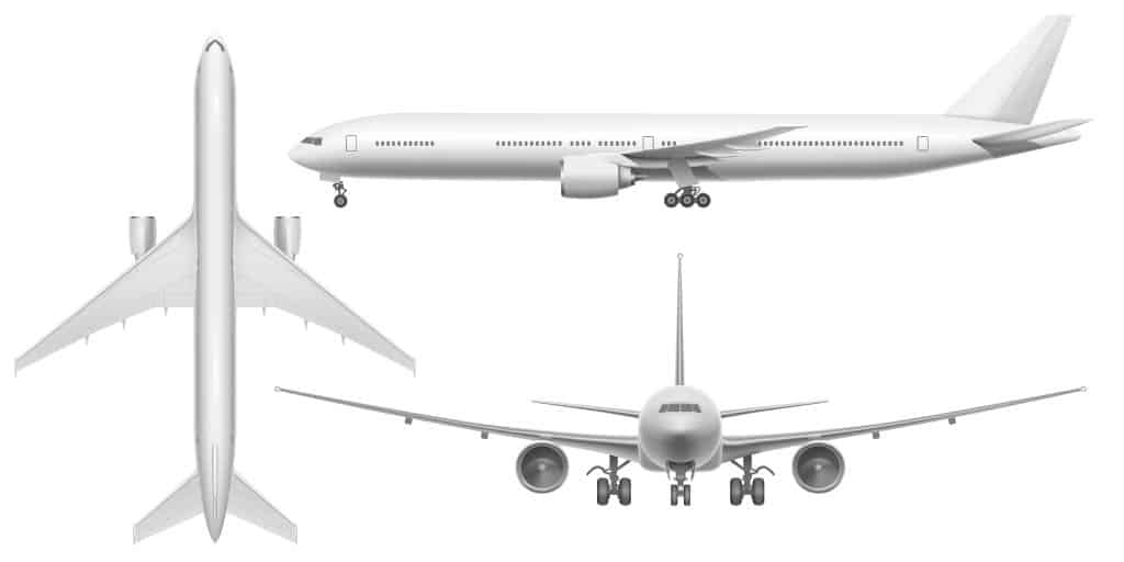 aircraft body from all angles